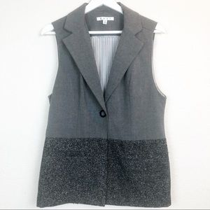 Cabi Career Wear Button Front Charcoal Vest Size S